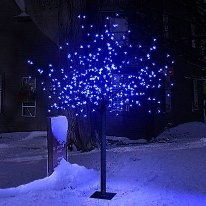 2 2m 7ft 2in Cherry Blossom Tree With 600 Electric Blue Leds Christmas Tree Xmas Cherry Blossom Tree Cherry Blossom Blossom