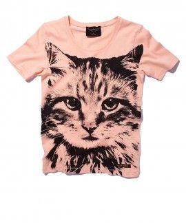 Finger in the Nose lovely cat girls t-shirt