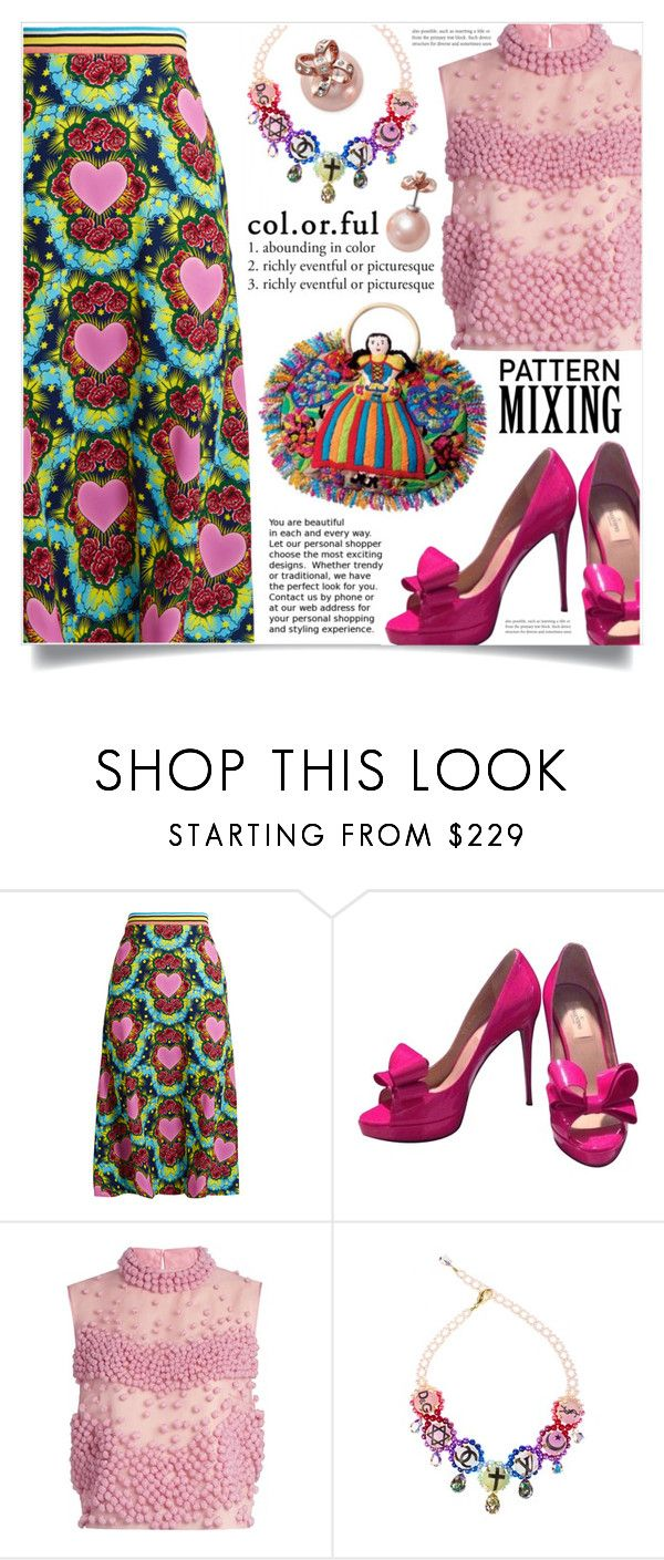 """""""Stay Bold: Pattern Mixing"""" by dolly-valkyrie ❤ liked on Polyvore featuring House of Holland, Valentino, Roksanda, Bijoux de Famille, Kate Spade and patternmixing"""