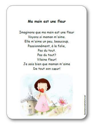 Chanson A Gestes Ma Main Est Une Fleur Paroles Illustrees A