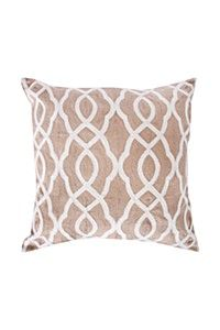 EMBROIDERED CREWEL TRELLIS 50X50CM SCATTER CUSHION