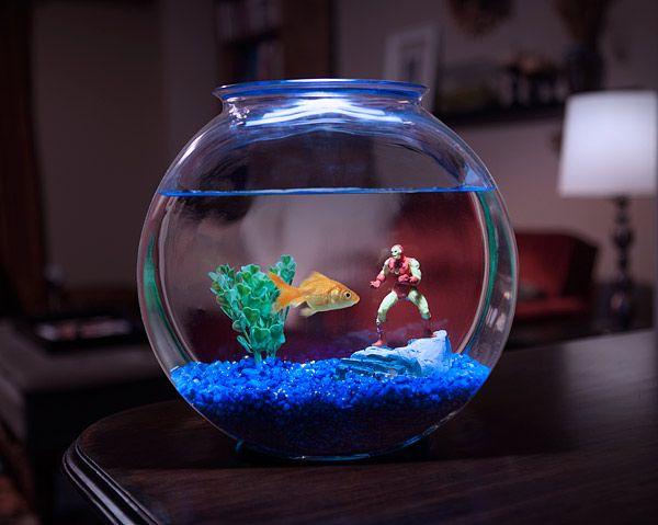 Marvel Superheroes Aquarium Line Geek Decor Decoracoes De