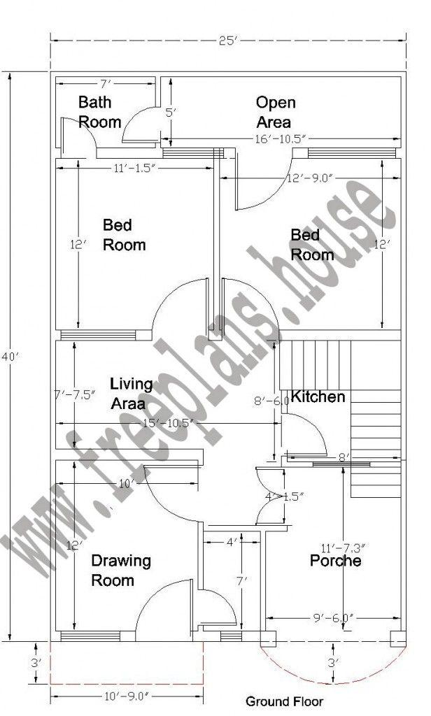 20x40 Feet Ground Floor Plan Plans Pinterest