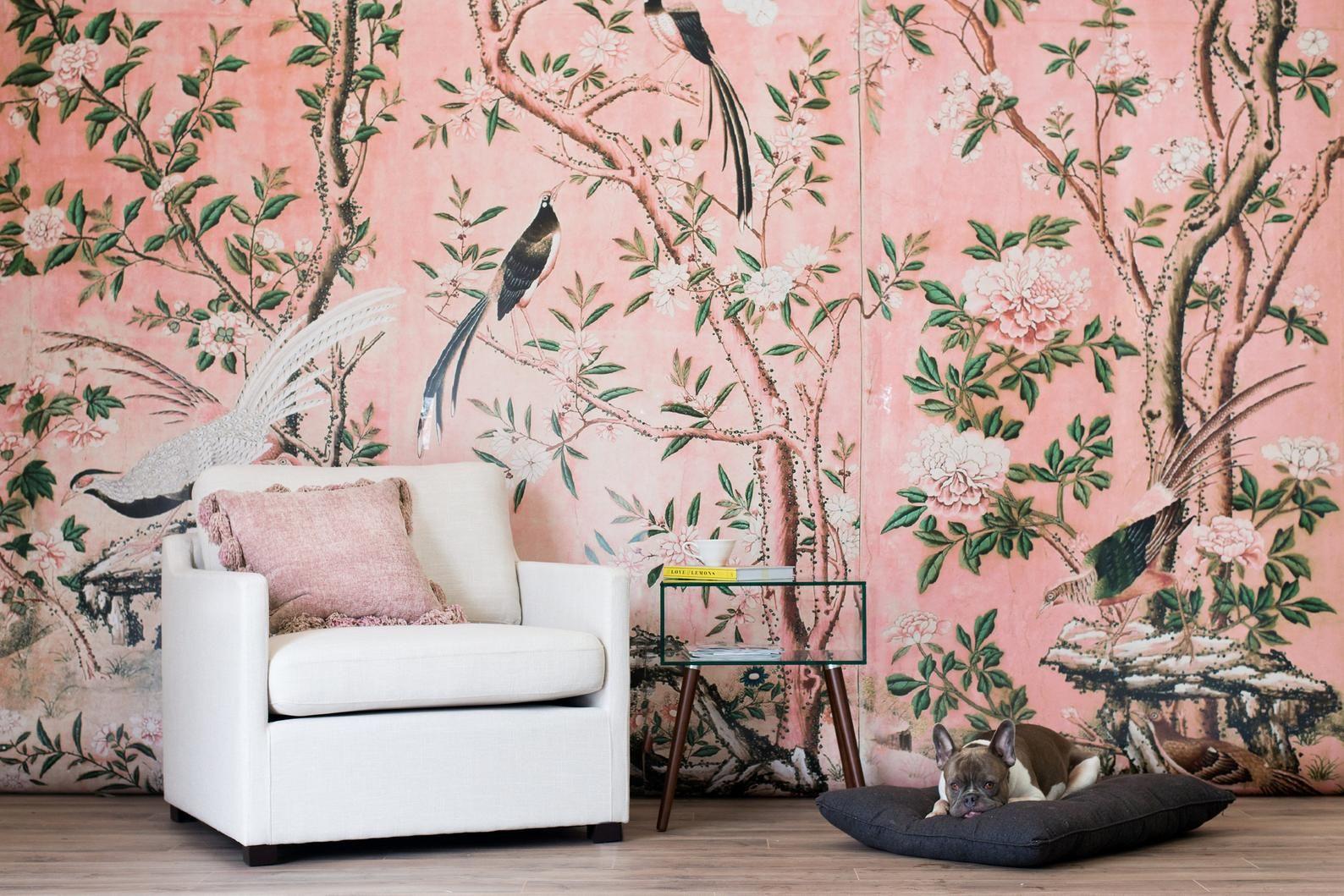 Magnolia Wallpaper Chinoiserie Retro Wallpaper (With