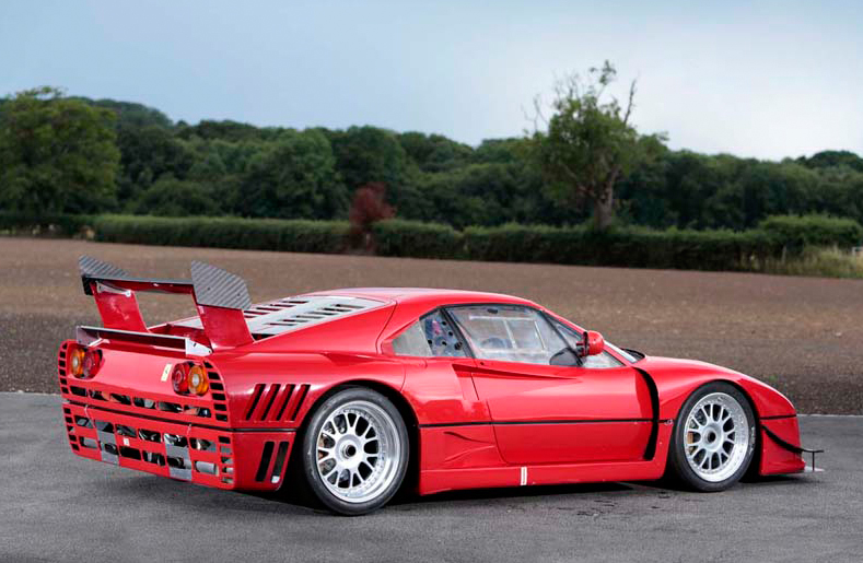 Serious car enthusiasts will be knocking down the door of the dealer selling this Ferrari 288 GTO Evoluzione.  It's for sale in Ascot, UK and the price is P.O.A. (Who'd have guessed that)