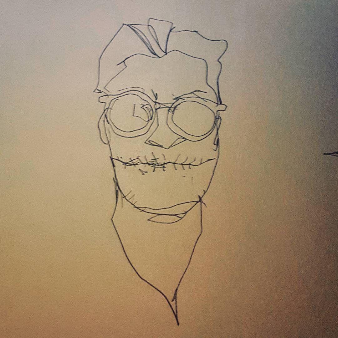 "#sketch #portrait #drawing of #redditor ""blonktime"