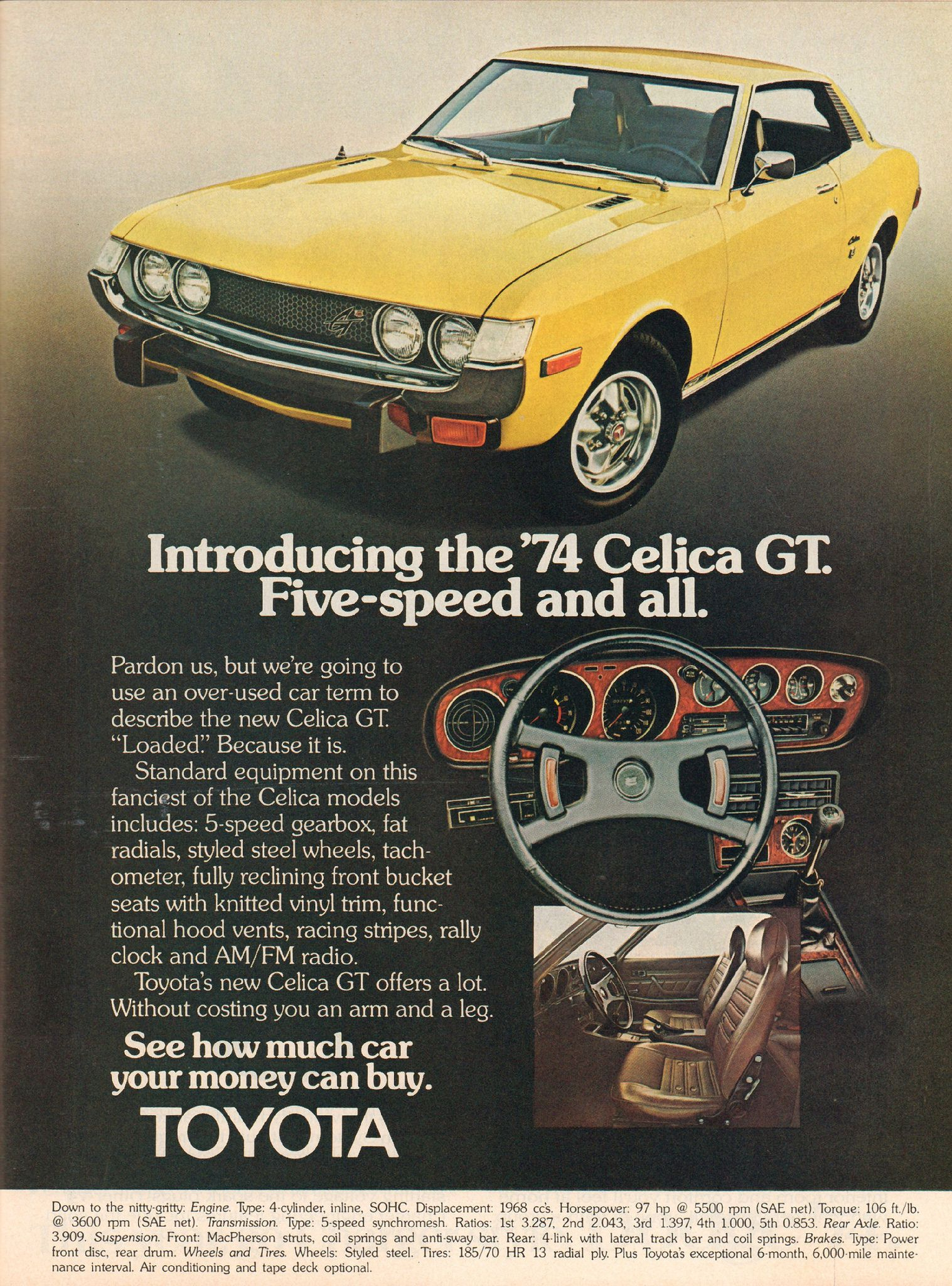 1974 Toyota Celica Gt Advertisement Motor Trend November 1973 Liftback Ford Bad 1700 Hp Km H Guinness World Records