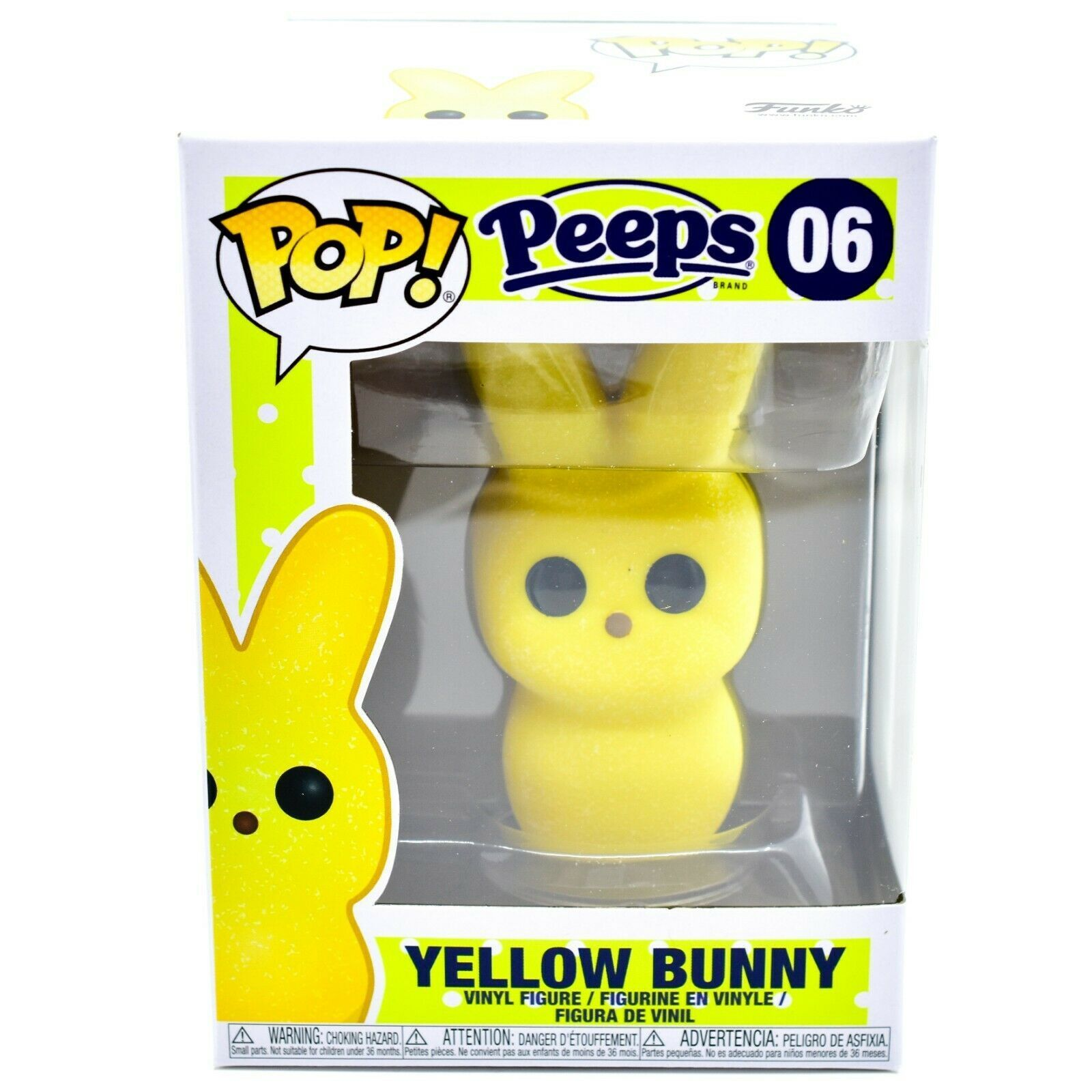 Funko Pop Peeps Yellow Bunny 06 Easter Candy Theme Vinyl Action Figure Funko Candy Theme Action Figures Easter Candy