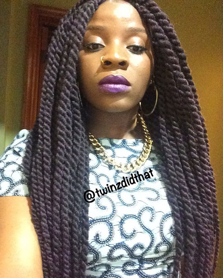 Style: Marley Twists Hair used: @milkyway_hair Cuban Twist ...