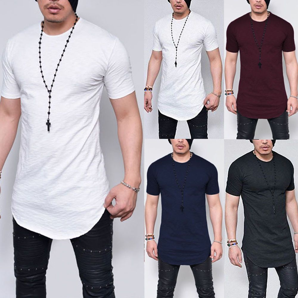 Men Slim Fit Crew Neck Long Sleeve Muscle Bamboo Tee T-shirt Casual Tops Blouse