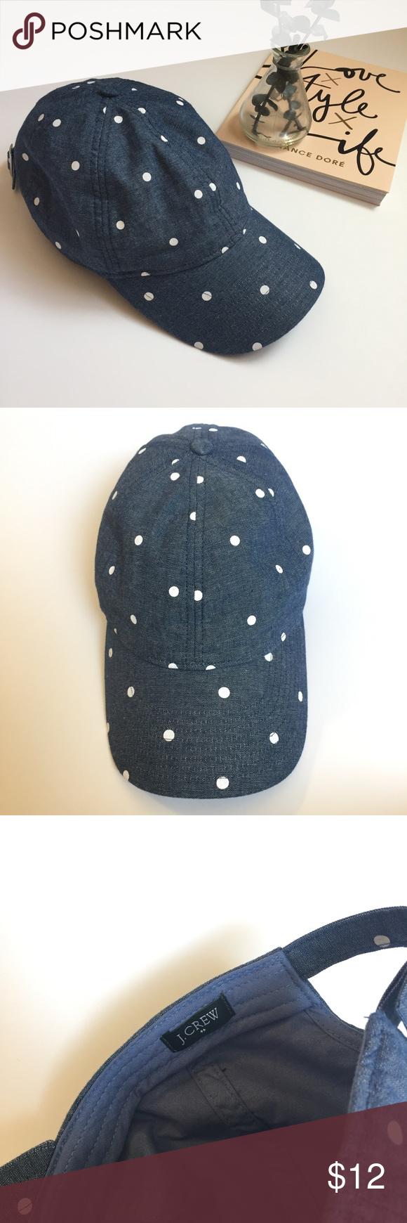 227a8b06a2a3c J. Crew Chambray Dot Baseball Cap Like new J. Crew Factory chambray dot baseball  cap. Worn once