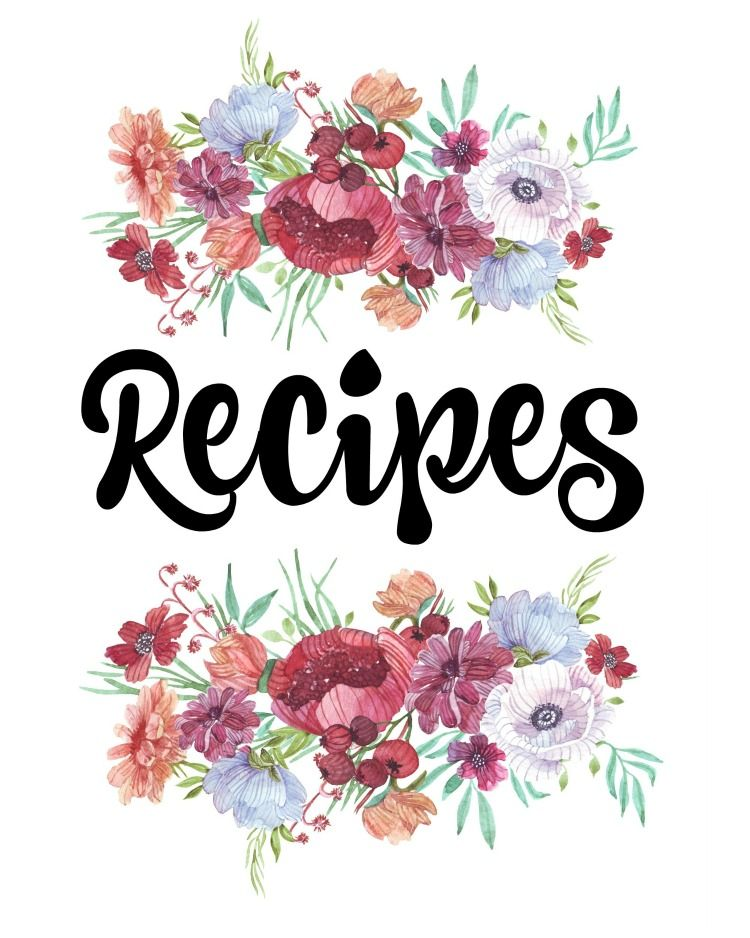 Cookbook Covers Free Templates : Finally organize your recipes with this free printable
