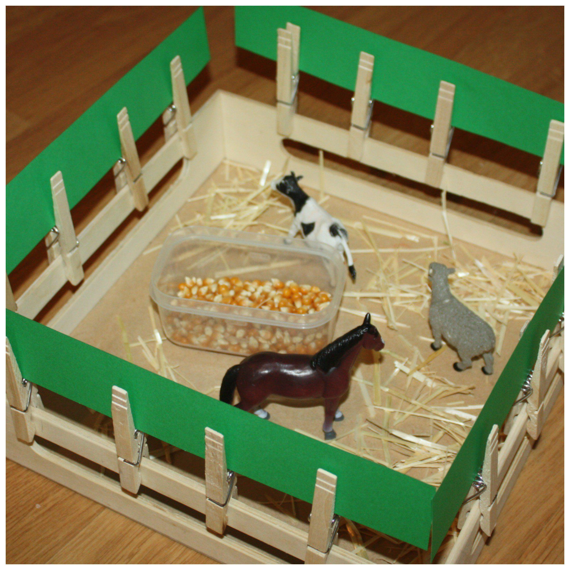 how to make a farm for school project