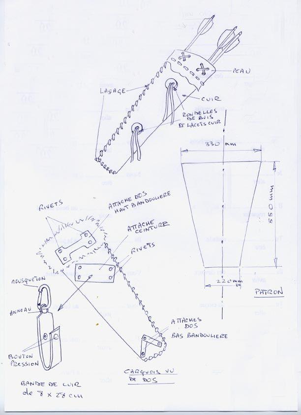 fabriquer un carquois pour d guisement ou d coration de. Black Bedroom Furniture Sets. Home Design Ideas