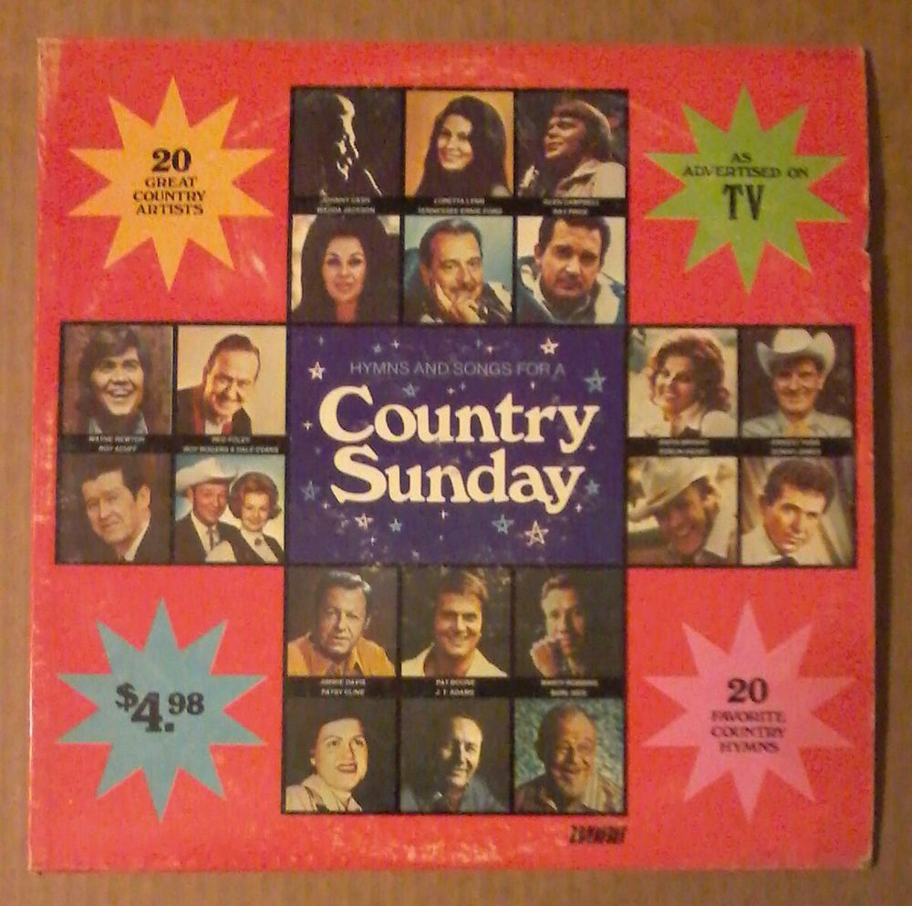 Hymns And Songs For A Country Sunday Gospel LP Album  #Gospel