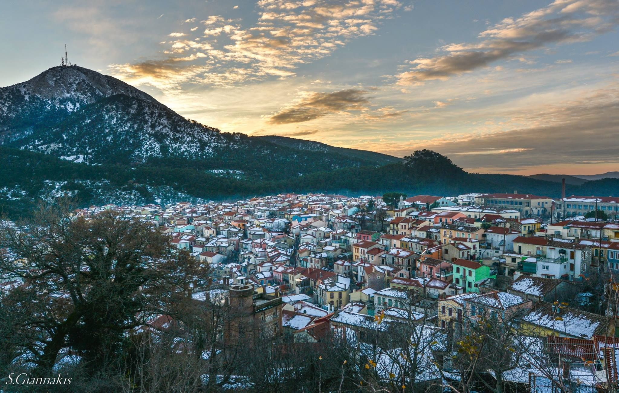 Winter in Lesvos.Greece