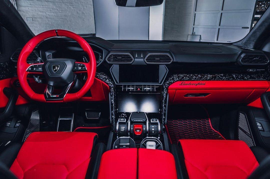 Lamborghini Urus Red Interior Dream Cars Lambo Truck Sports Cars Luxury