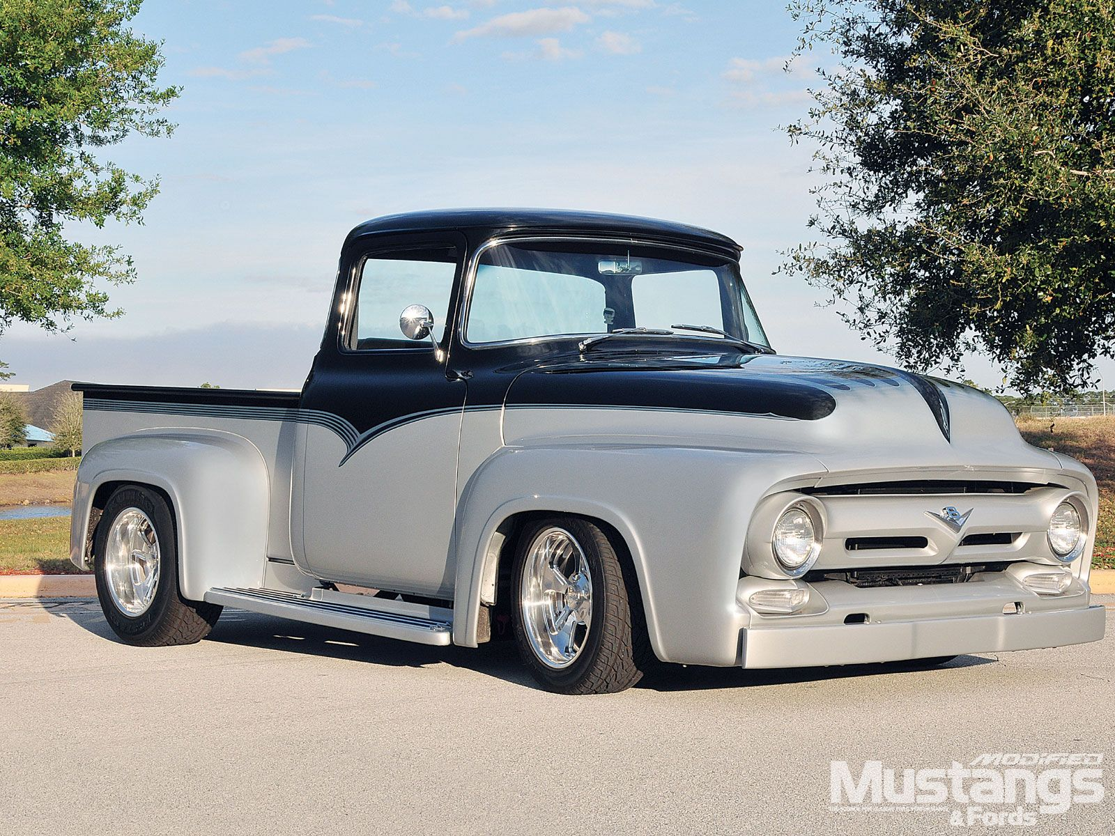 1956 Ford F100 1956 Ford F 100 Front Angle Ford Pickup Trucks Classic Ford Trucks Vintage Pickup Trucks