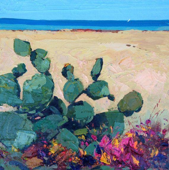 Cactus on the beach, Sardinian seaside.