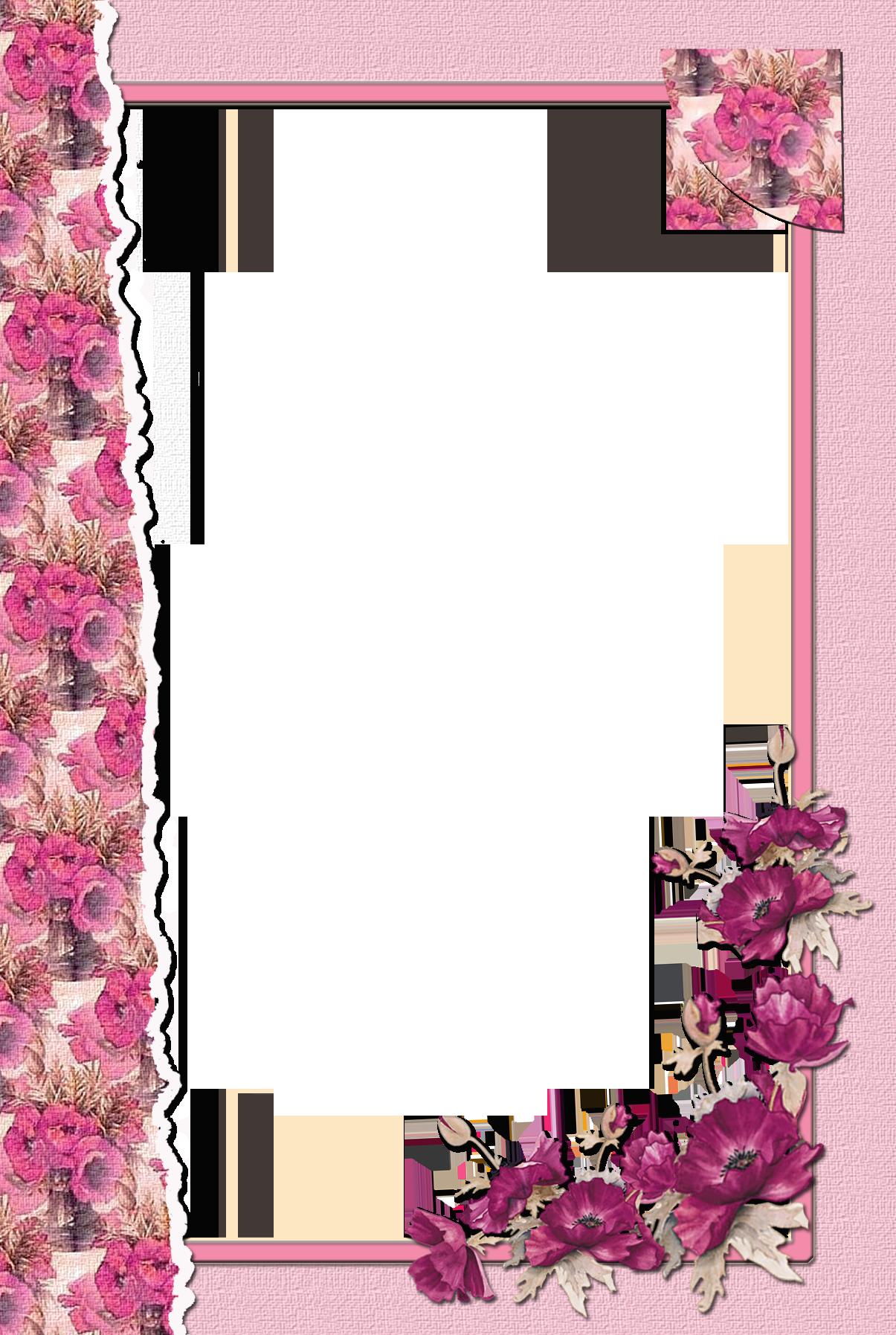 Transparent Flower Pink Frame Transparent flowers