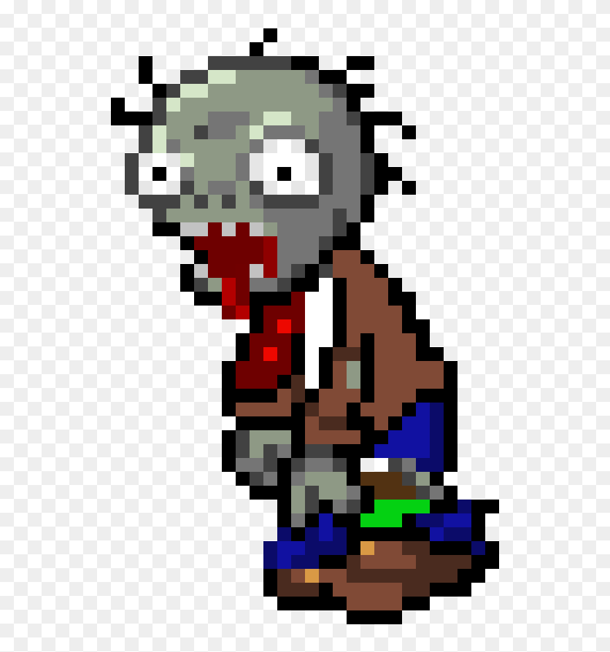 Download Hd Zombies Peashooter Pixel Minecraft Plants Vs Zombies Zombie Pixel Art Clipart And Use The Free Clipart For Yo Pixel Art Art Clipart Free Clip Art