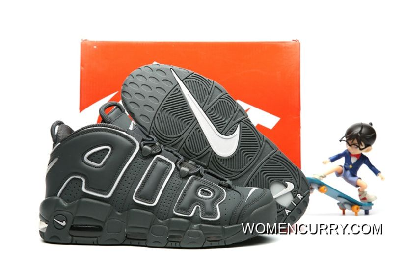 Nike Air More Uptempo Dark Grey White Release Best  b4385adacc48