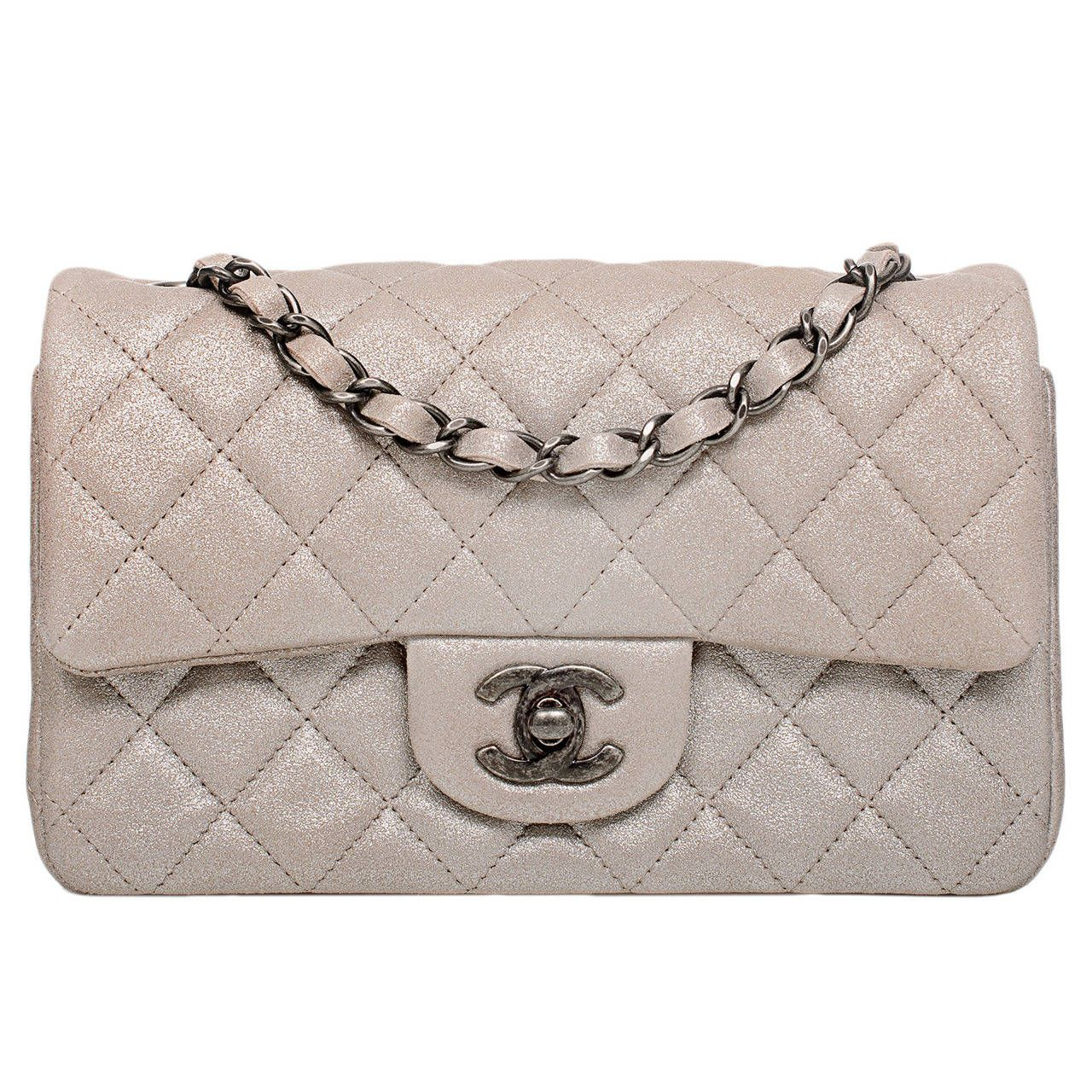 e020244e9c58 Chanel Champagne Gold Quilted Small Classic 2.55 Flap Bag