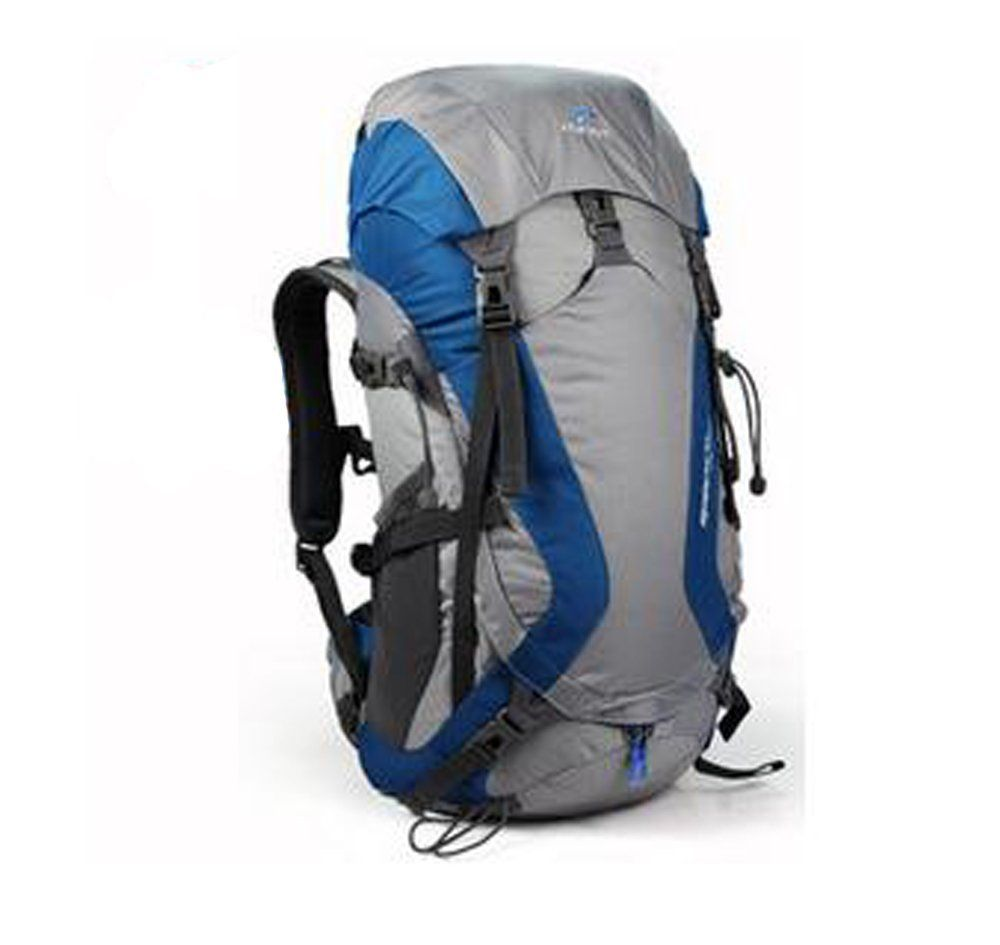 tofine waterproof external frame hiking pack travel bag for women with rain cover blue 48 liter - External Frame Hiking Backpack