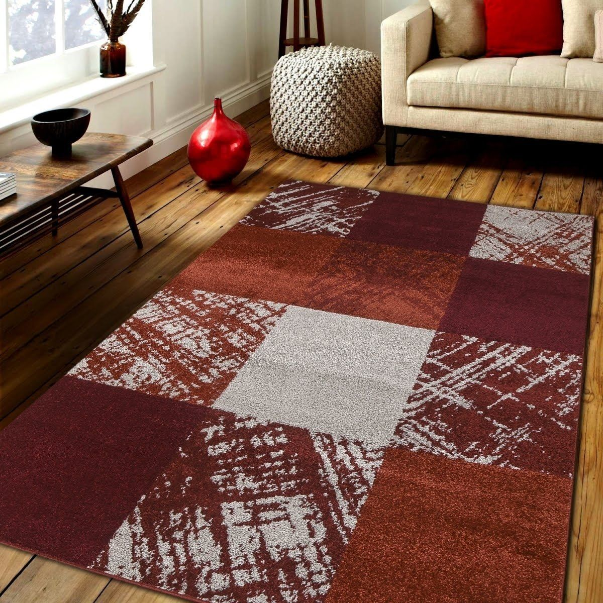 Caramel Drizzle Area Rug Mnc 600 Red 8 X 10 8 X 10 Red 8