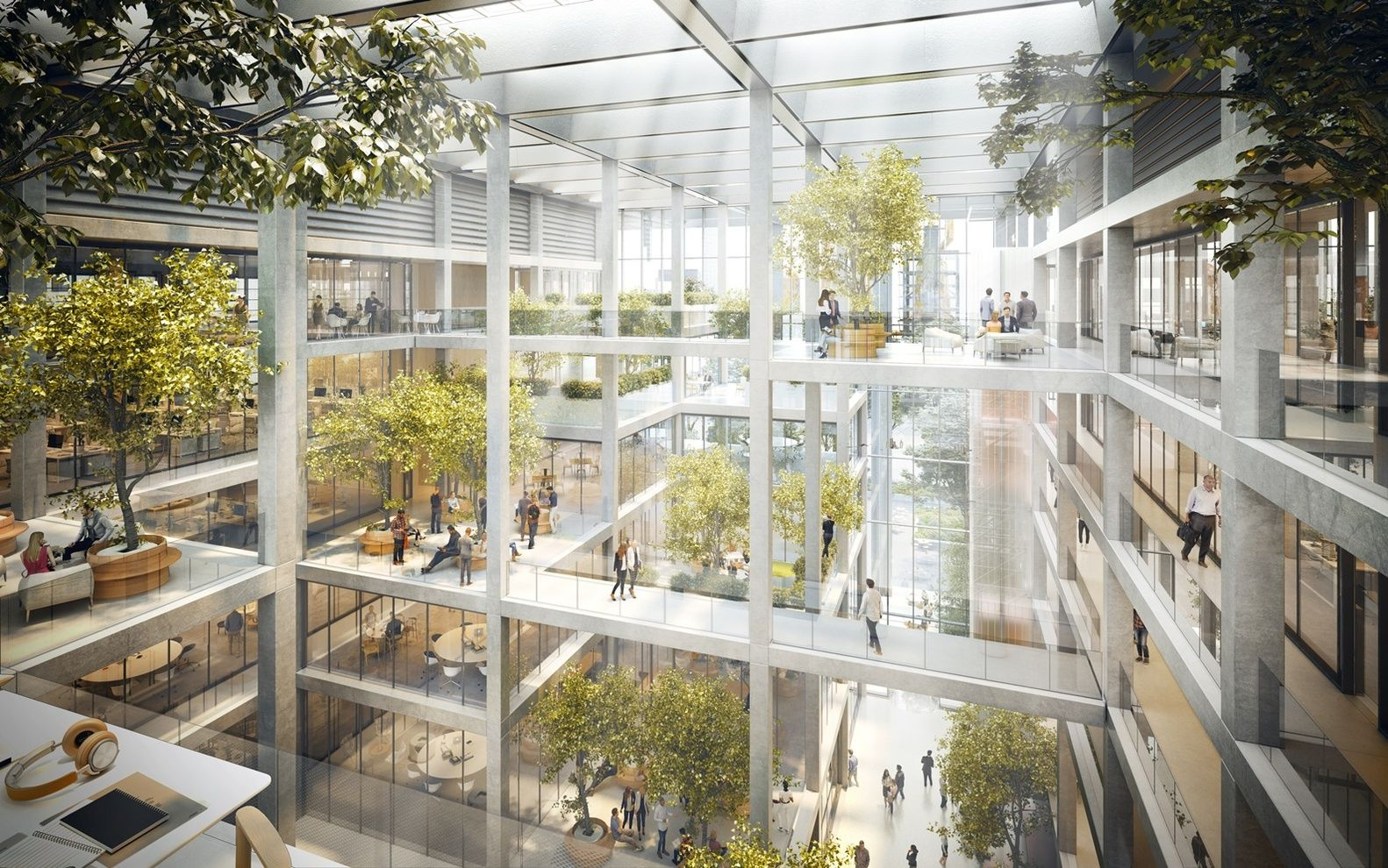 Gallery of Foster + Partners Design Open Office Building