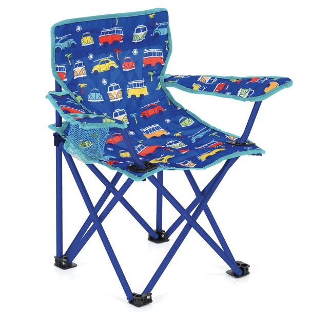 Volkswagen Campervan Kids Blue Camping Chair Camping Chairs
