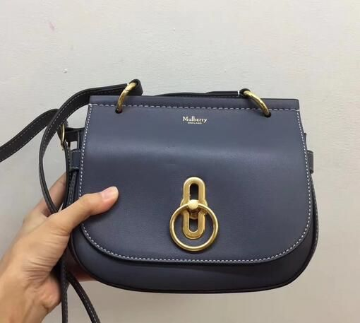 Mulberry Fall Winter 2017 Small Amberley Satchel BLUE   Bags ... fd20a363dc