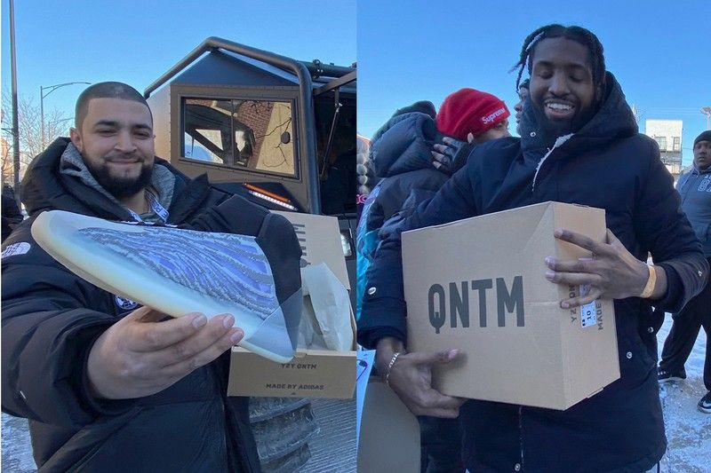 Kanye West Is Giving Out The Adidas Yeezy Qntm For Free In Chicago In 2020 With Images Yeezy Adidas Yeezy Kanye West