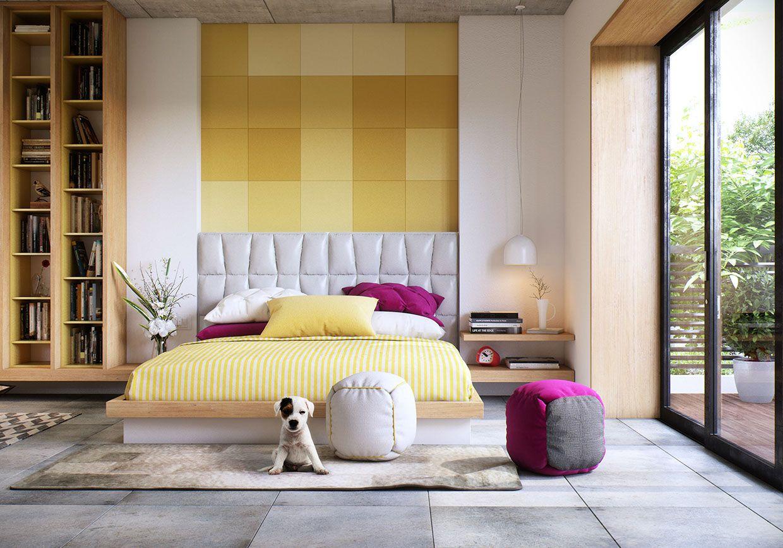 hálószoba fal inspiráció és ötletek sárga fehér | 방 | Pinterest ...