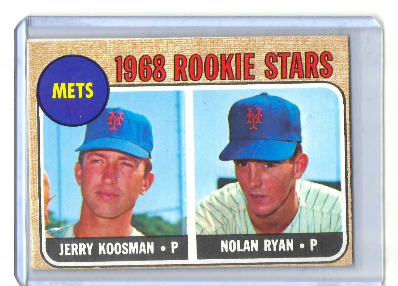 1968 topps 177 nolan ryan rc rookie card new york mets