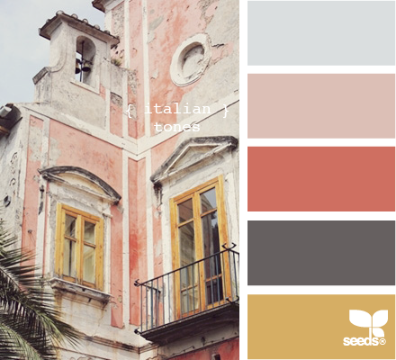 Italian tones color farbpalette farben und wandfarbe - Farbkombinationen wandfarbe ...