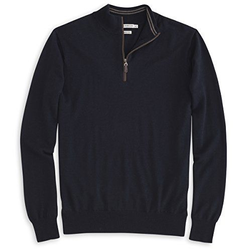 Peter Millar Peter Millar Men'S Merino Napa Trimmed 1/4 Zip Sweater. #petermillar #cloth #