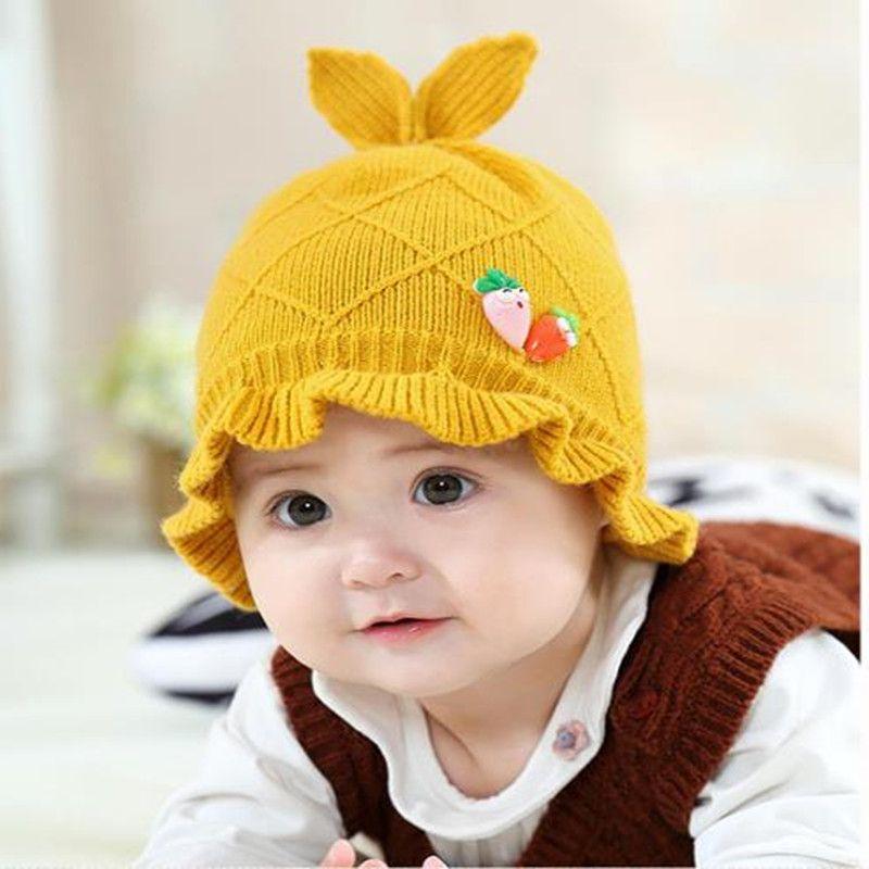 18c02217510 Winter Knitted Kids Pom Pom Hat Girl Kids Skullies Beanie Hats Warm Cap Boy  Thick Baby Infant