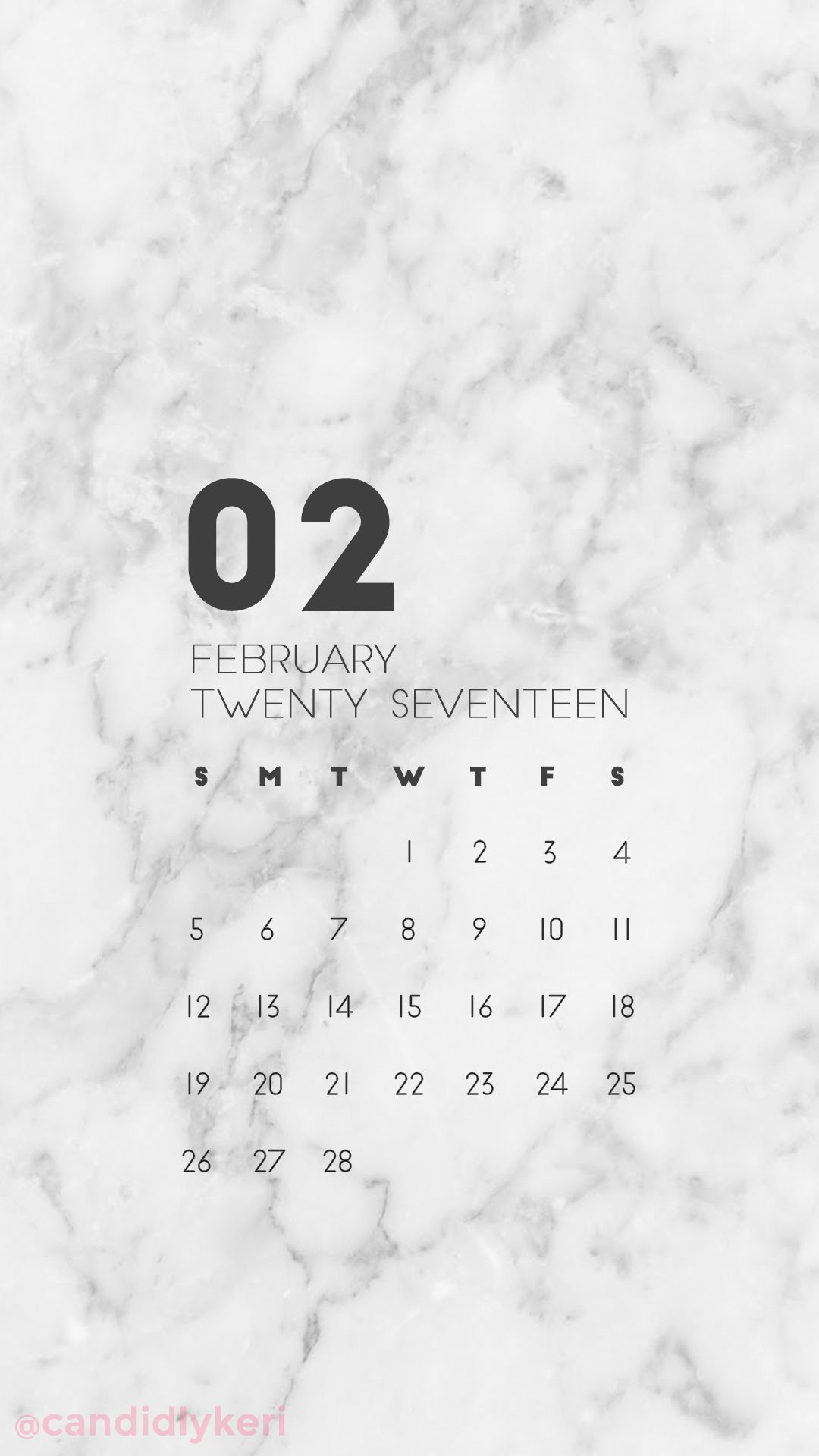 Marble Organized Clean February Calendar 2017 Wallpaper You Can Download For Free On The Blog For Any D February Wallpaper Calendar Wallpaper Iphone Wallpaper