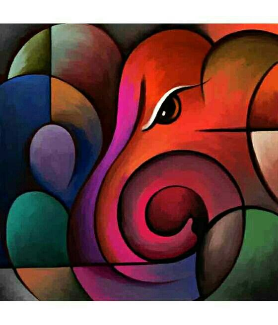 Check out Lord Ganesha In Oil Painting on Shopo - http ...