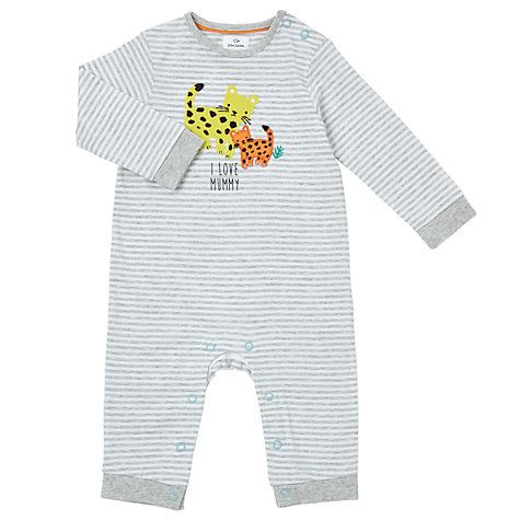 99e0dd1cf375 Buy John Lewis Baby Leopard Mummy Romper Playsuit