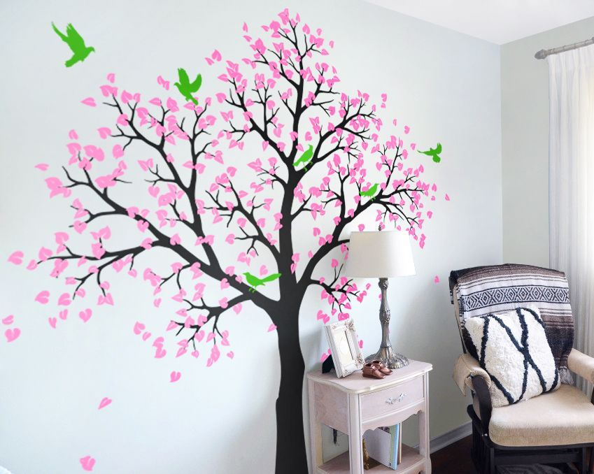 White Tree Wall Decal For Nursery Large Nursery Wall