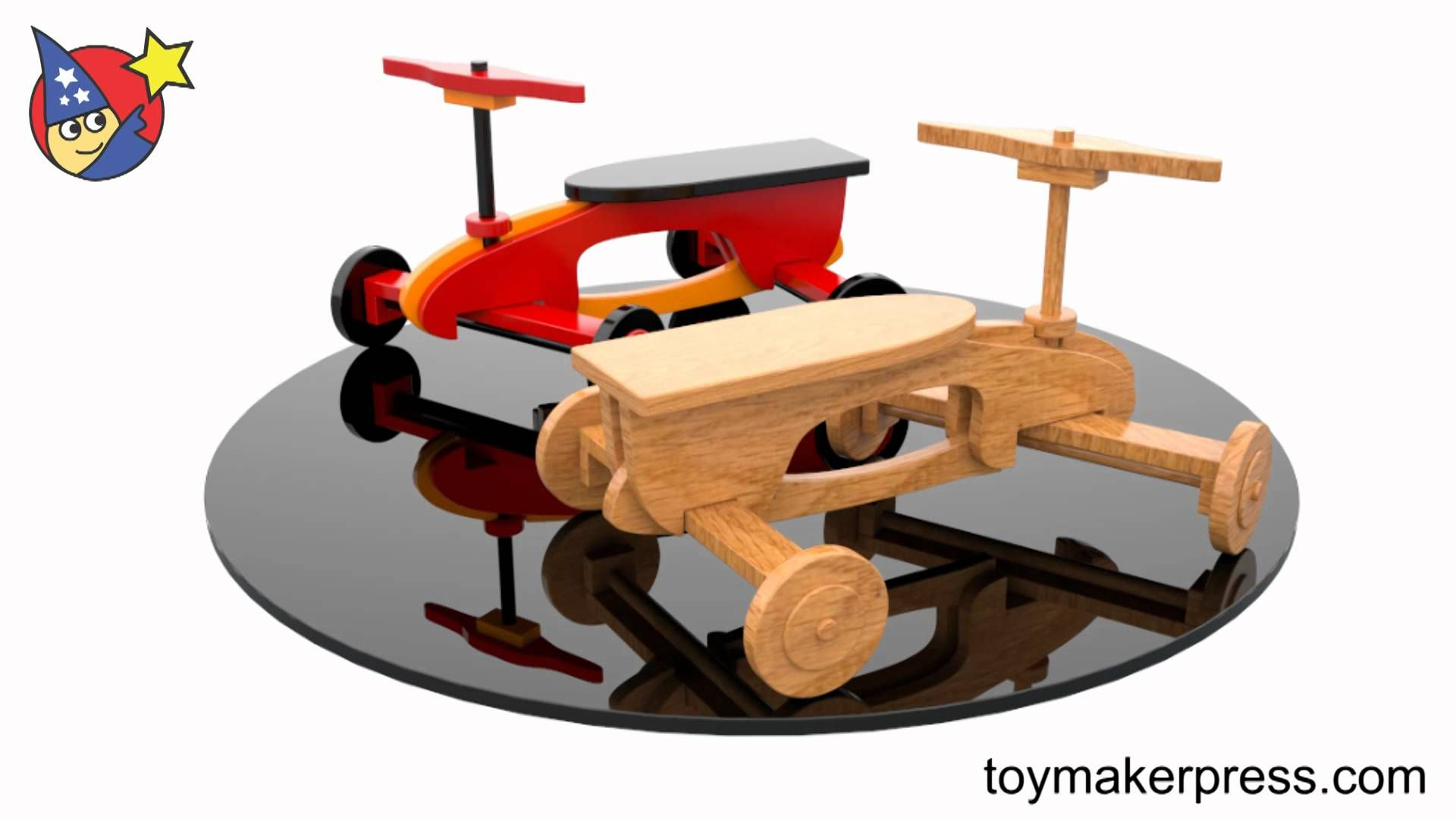 wood toy plans - quick & easy rocket ryder ride-on car
