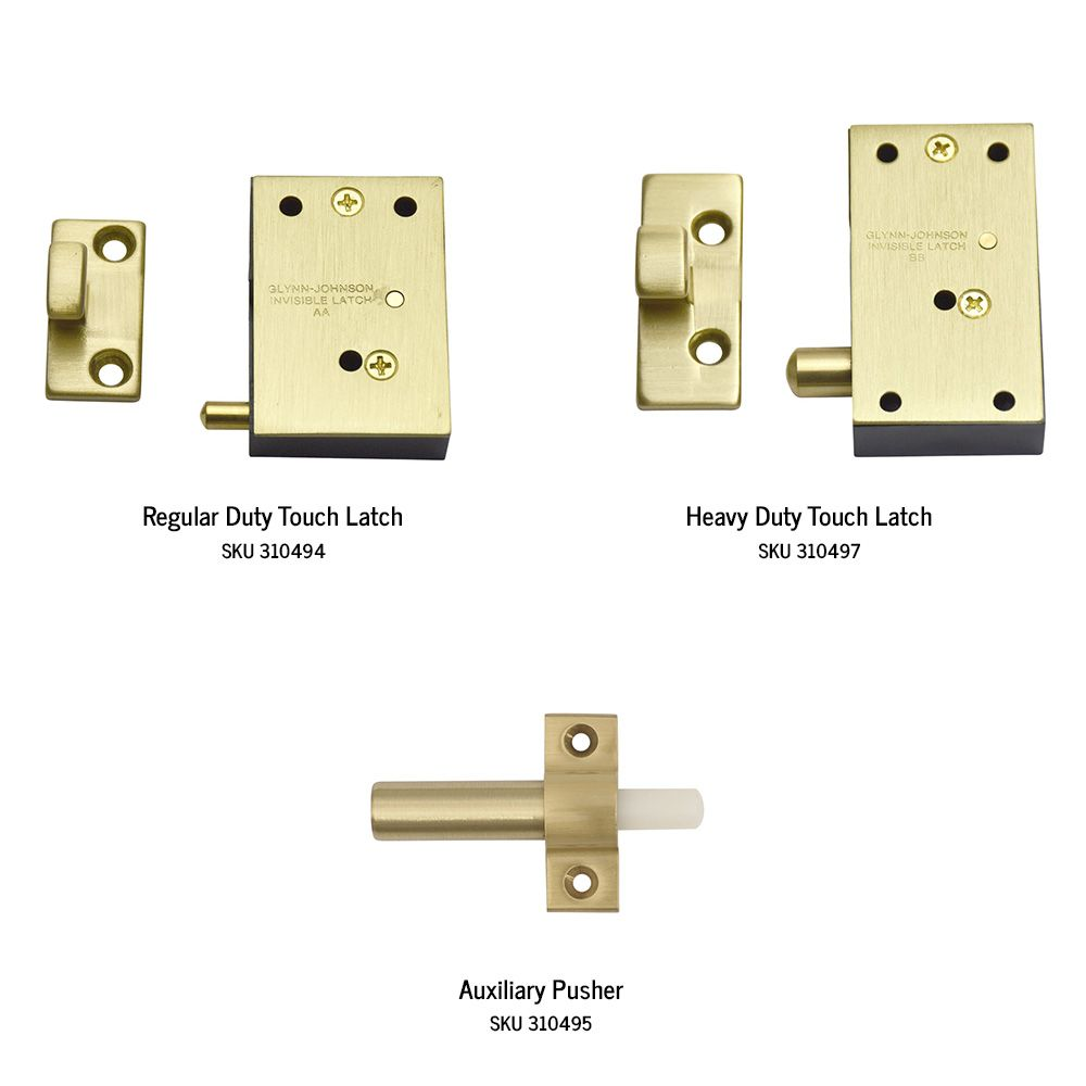 Invisible Touch Latch For Full Size Doors Latches Invisible Latches Hardware