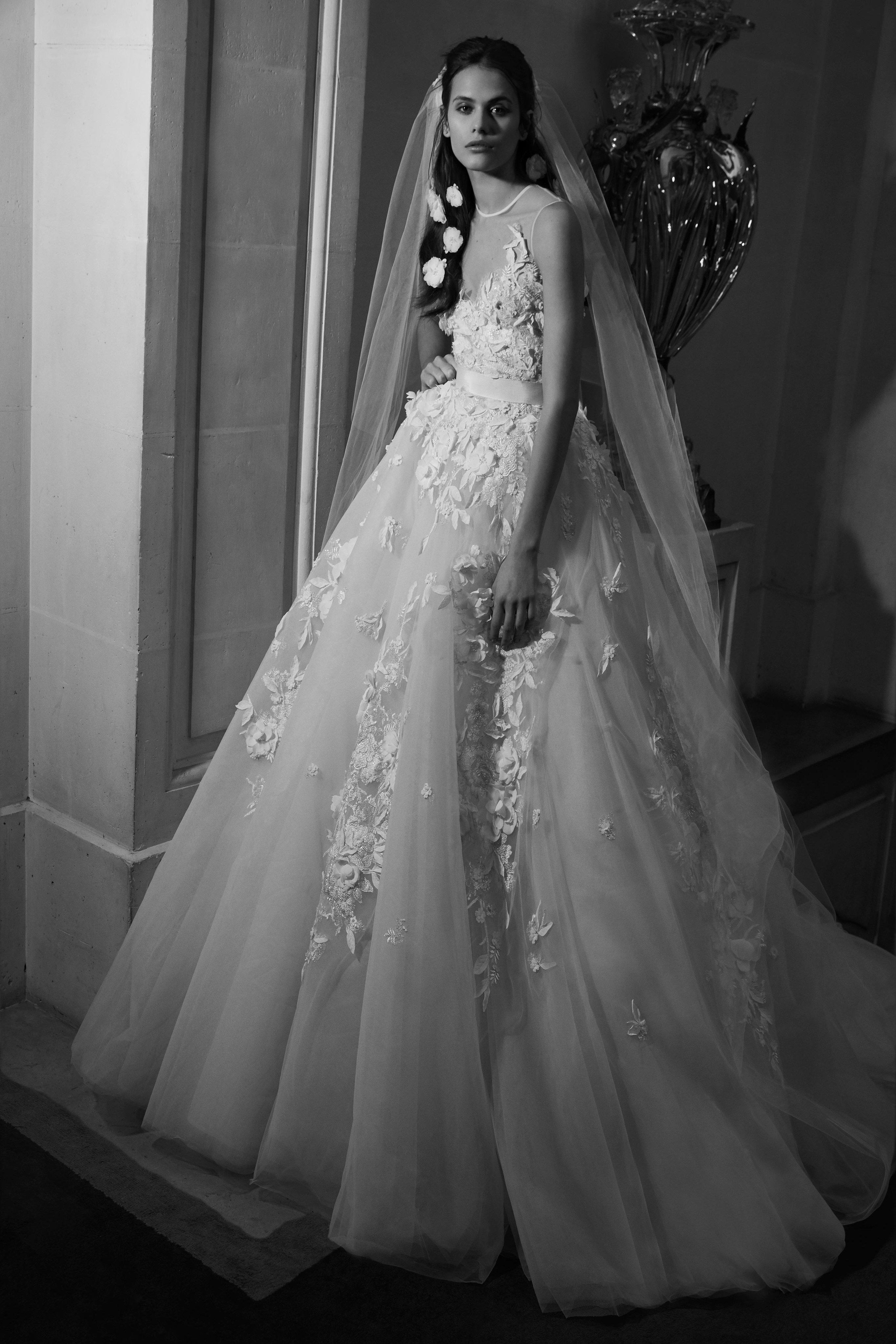 Ellie Saab Spring 2019 Bridal Collection - Wedding Dresses  weddingdress   bridalgown  weddinggown 684f55d46aea