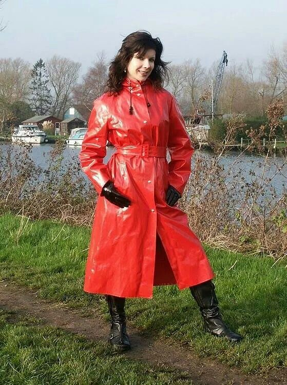 Red pvc | nur RUKKA | Pinterest | Raincoat