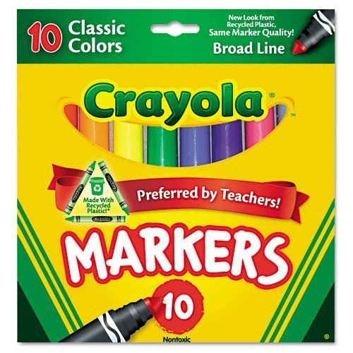 Crayola Products Crayola Non Washable Markers Broad Point