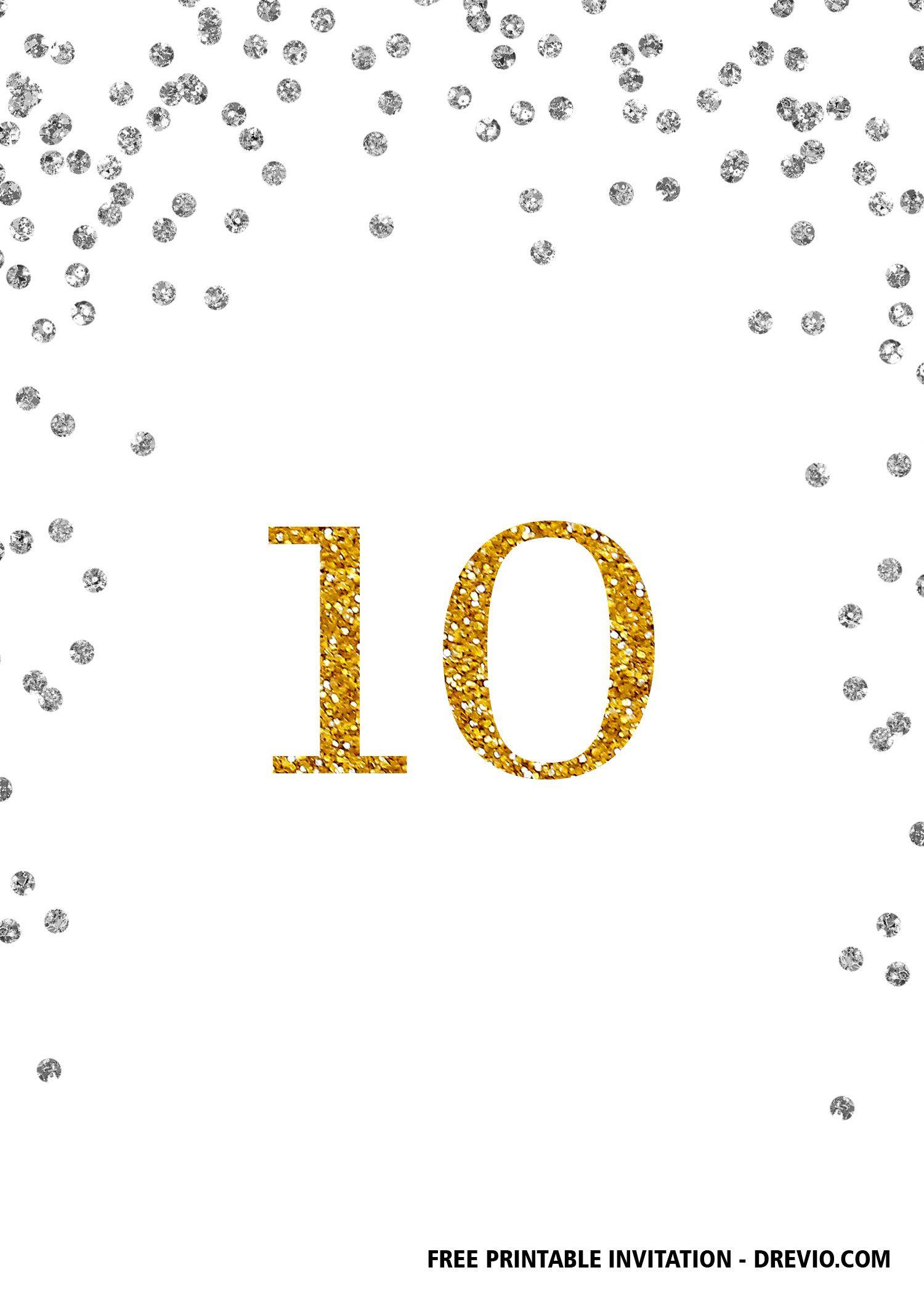 Free Printable 10th Birthday Invitation Templates Birthday Invitation Templates 10th Birthday Invitation Birthday Invitations