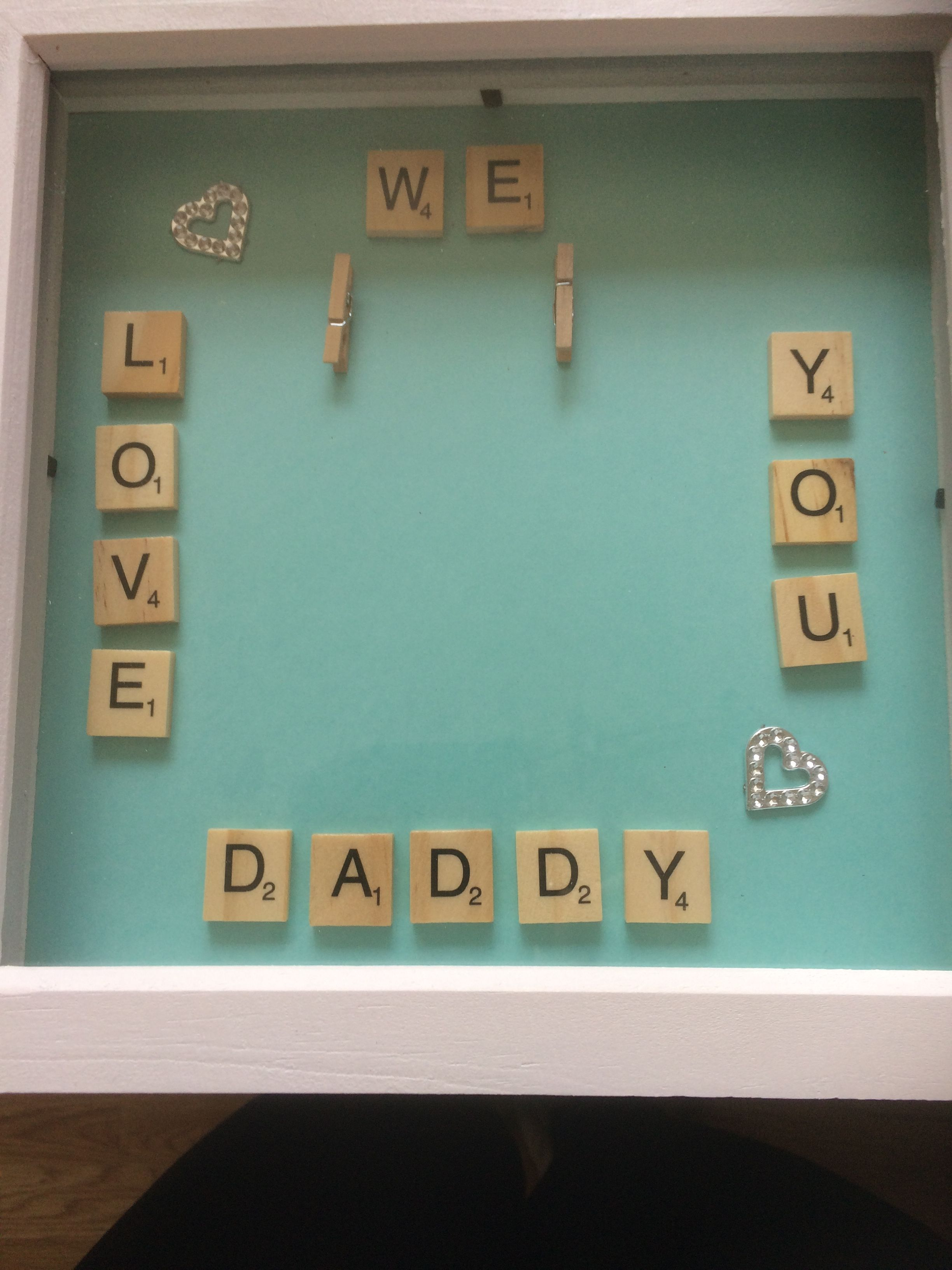 Fathers Day We Love You Daddy Box Frame Gift My Own Makes Box
