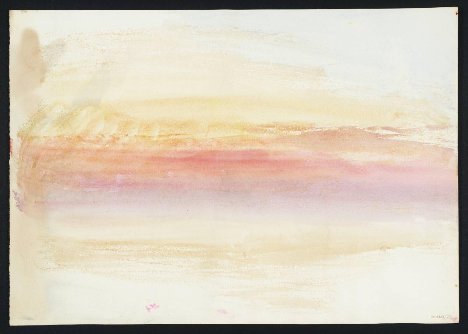 Sunset Joseph Mallord William Turner Tate Art Romantique